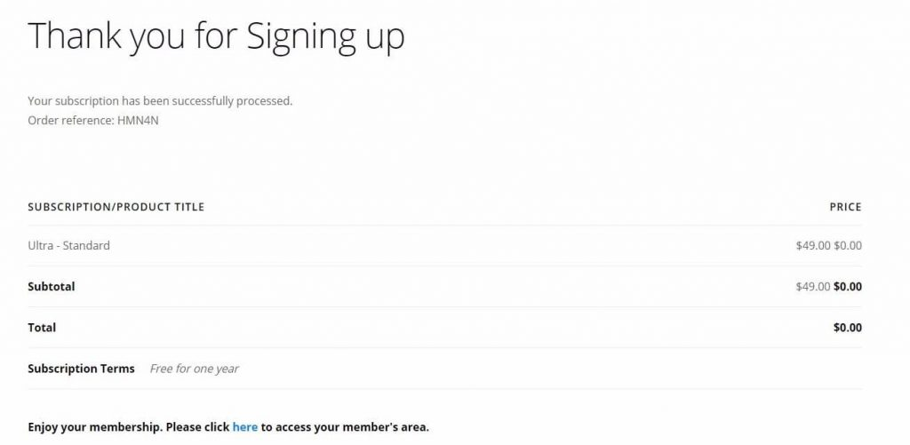 Thank You For Signing Up At Themify