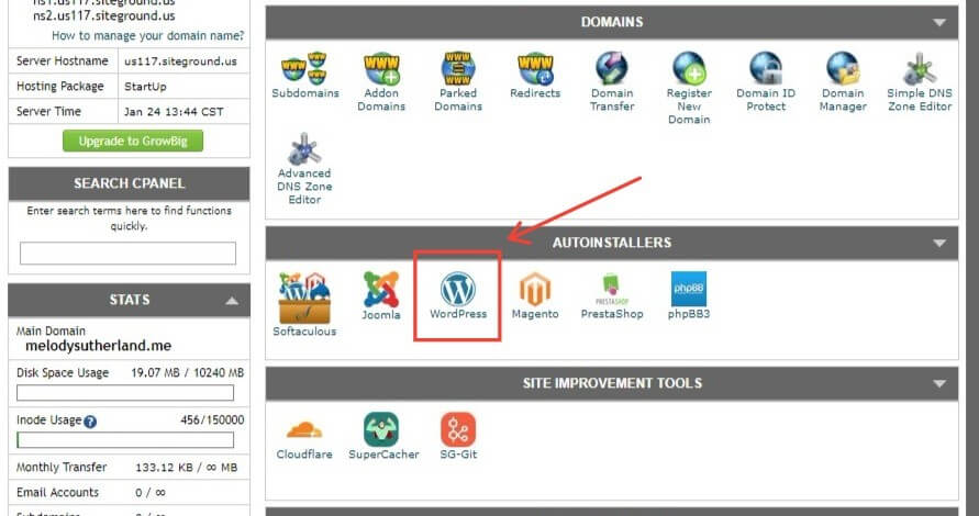 WordPress AutoInstaller In Softaculous