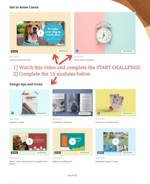 Canva Tutorial Screen