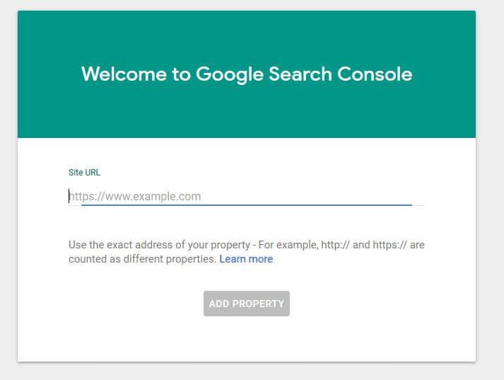 Enter A Website Into Google Search Console