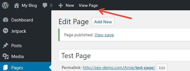 How To View A Web Page In The WordPress Dashboard