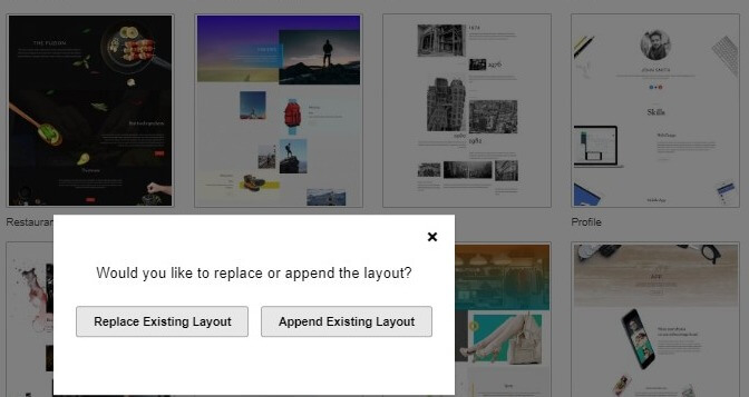 Replace Or Append An Existing Layout In Themify Builder