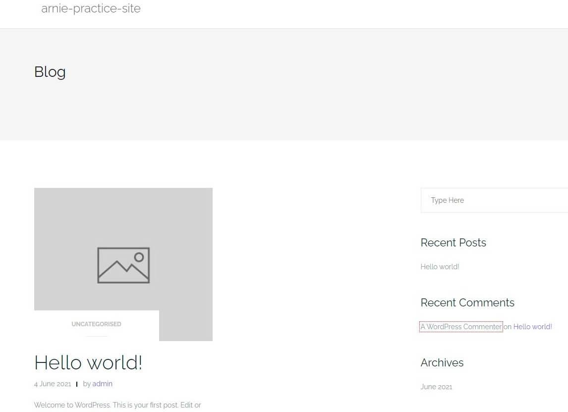 WordPress Default Screen 000WebHost