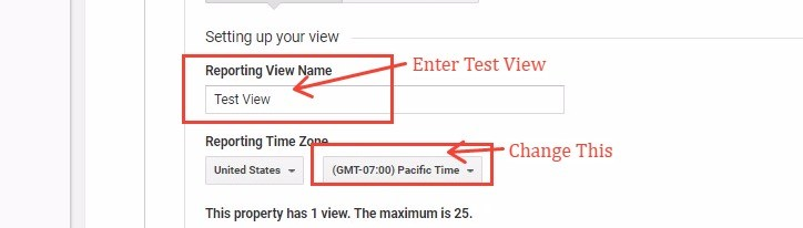 Creating A Test View In Google Analytics