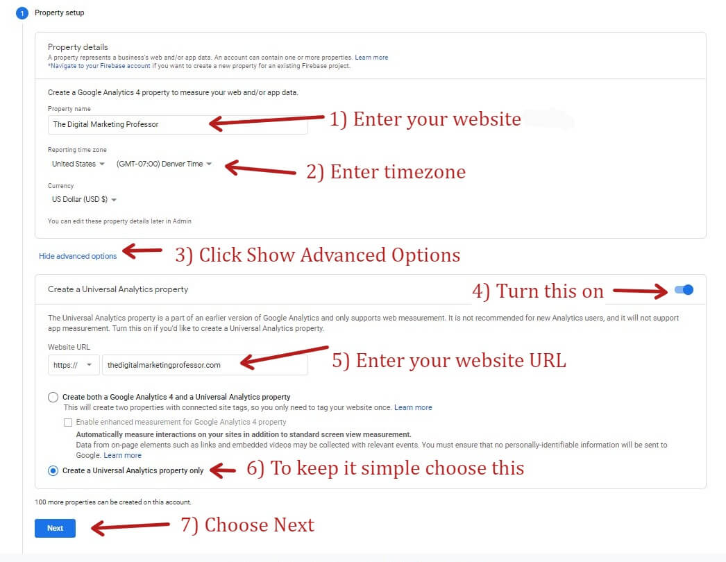 How To Get a UA in Google Analytics