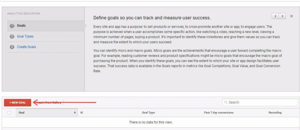 How To Set A New Goal In Google Analytics