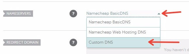 How to set up a custom DNS in Namecheap