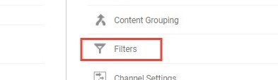Setting A Filter In Google Analytics