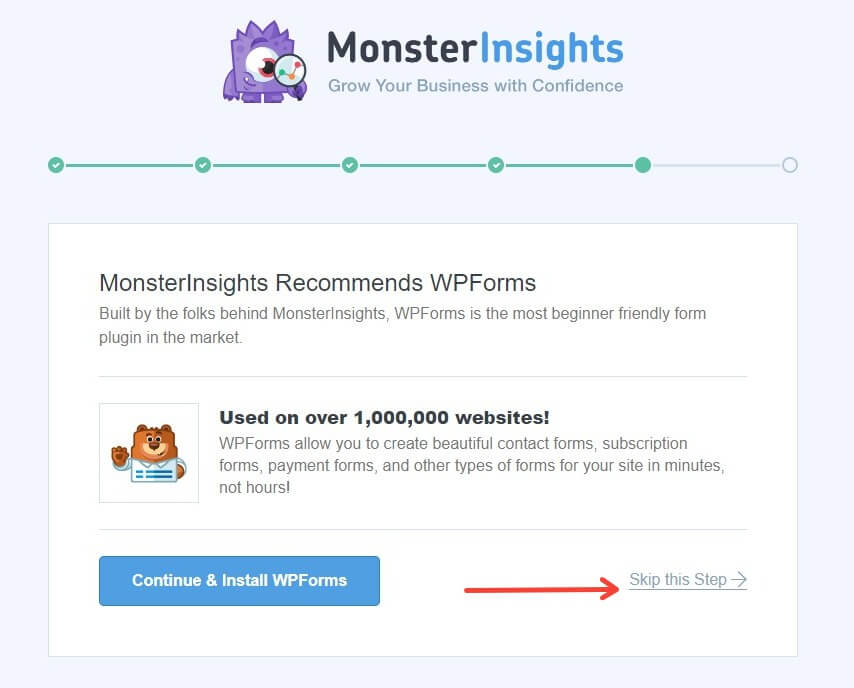 Setting Up Monster Insights - Skip WP Forms