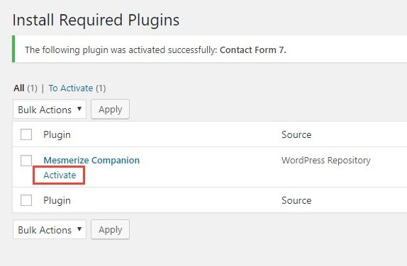 activate an installed plugin