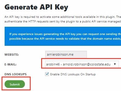 Generating A Sucuri API kkey