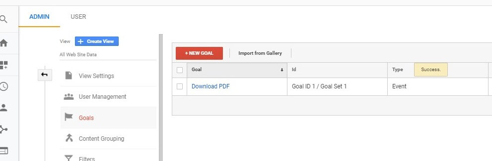 Steps To Set Up A Download Goal In Google Analytics