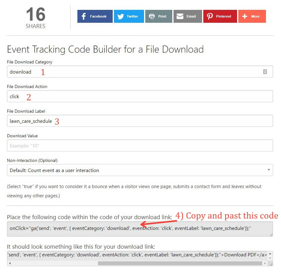 Using Raven Tools To Tag A Link As An Event
