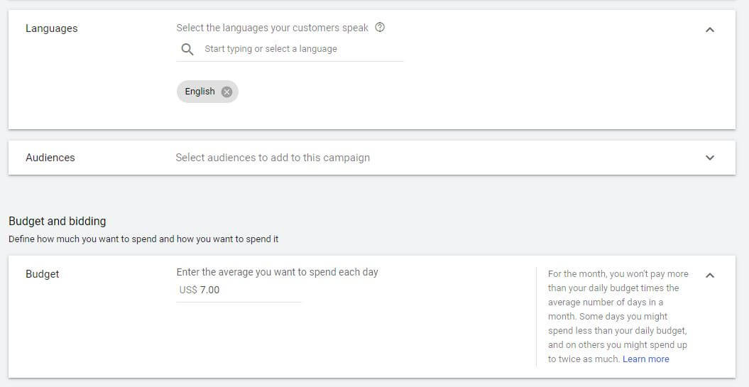 Choosing Campaign Settings In Google Ads