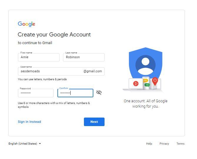 Creating A Google Account
