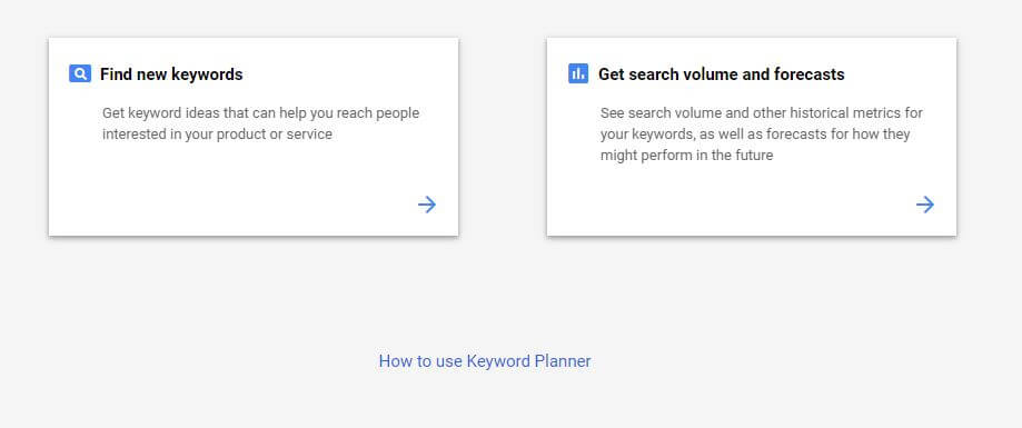 How To Access The Google Ads Keyword Planner