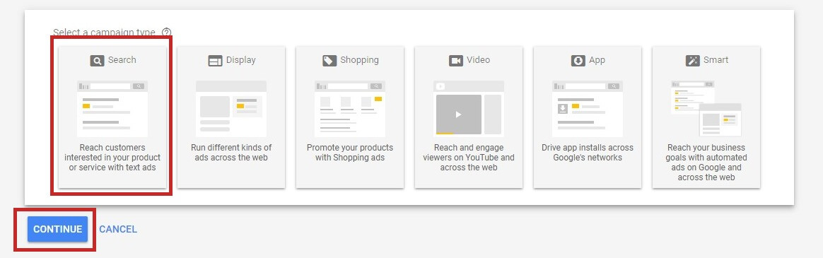 Creating A Google Ads Campaign - Create New Campaign Button