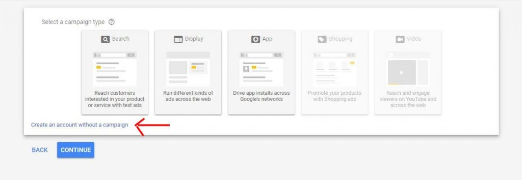Setting Up Google Ads - Setting up an account only