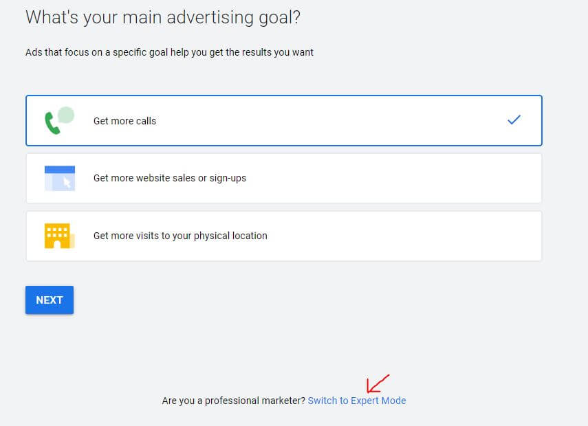 Switch To Expert Mode In Google Ads