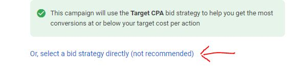 manual bid strategy