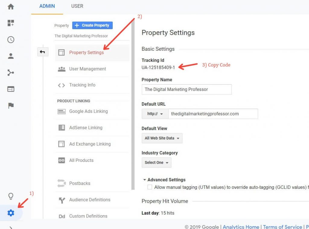 How To Find Your UA code in Google Analytics