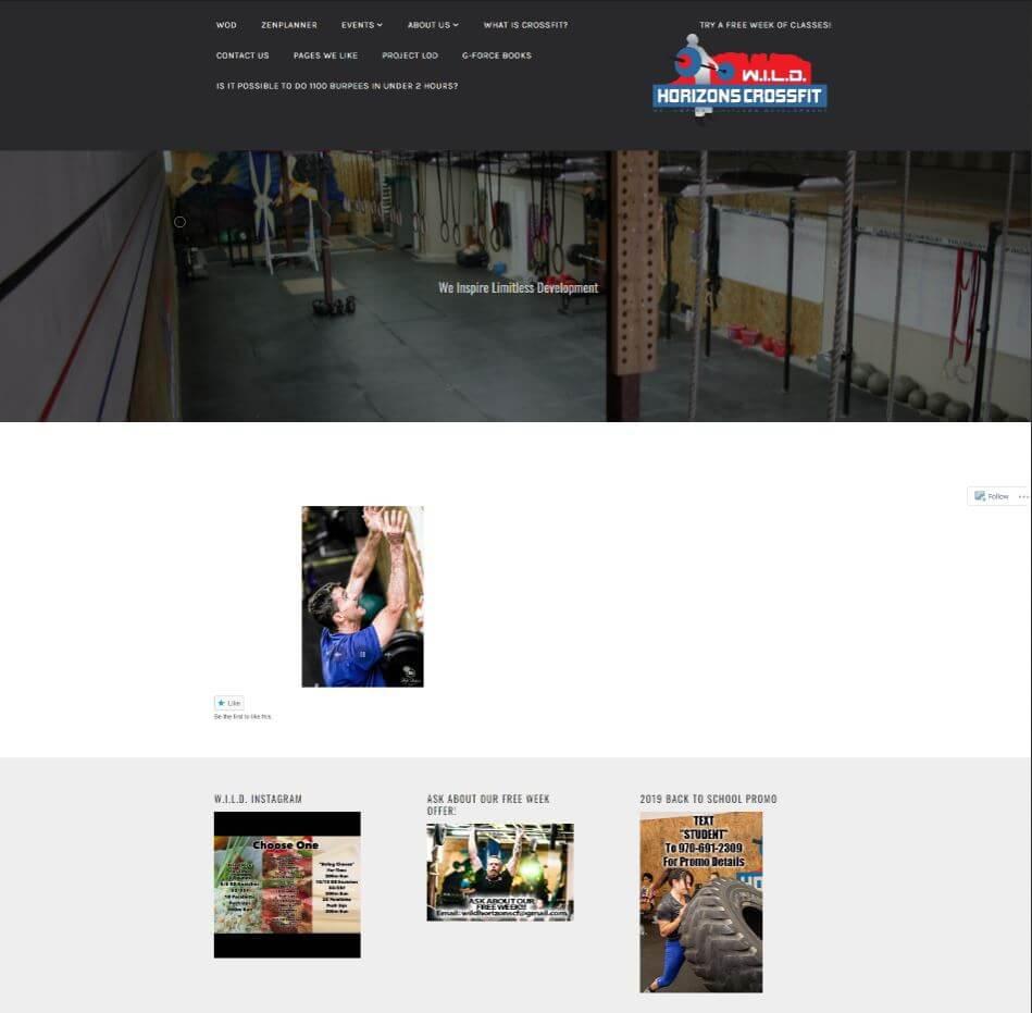 Bad CrossFit Website Example