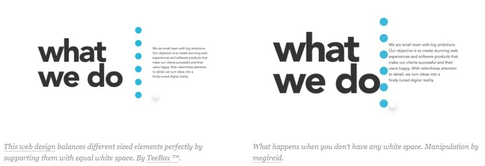 Balance In Web Design For White Space