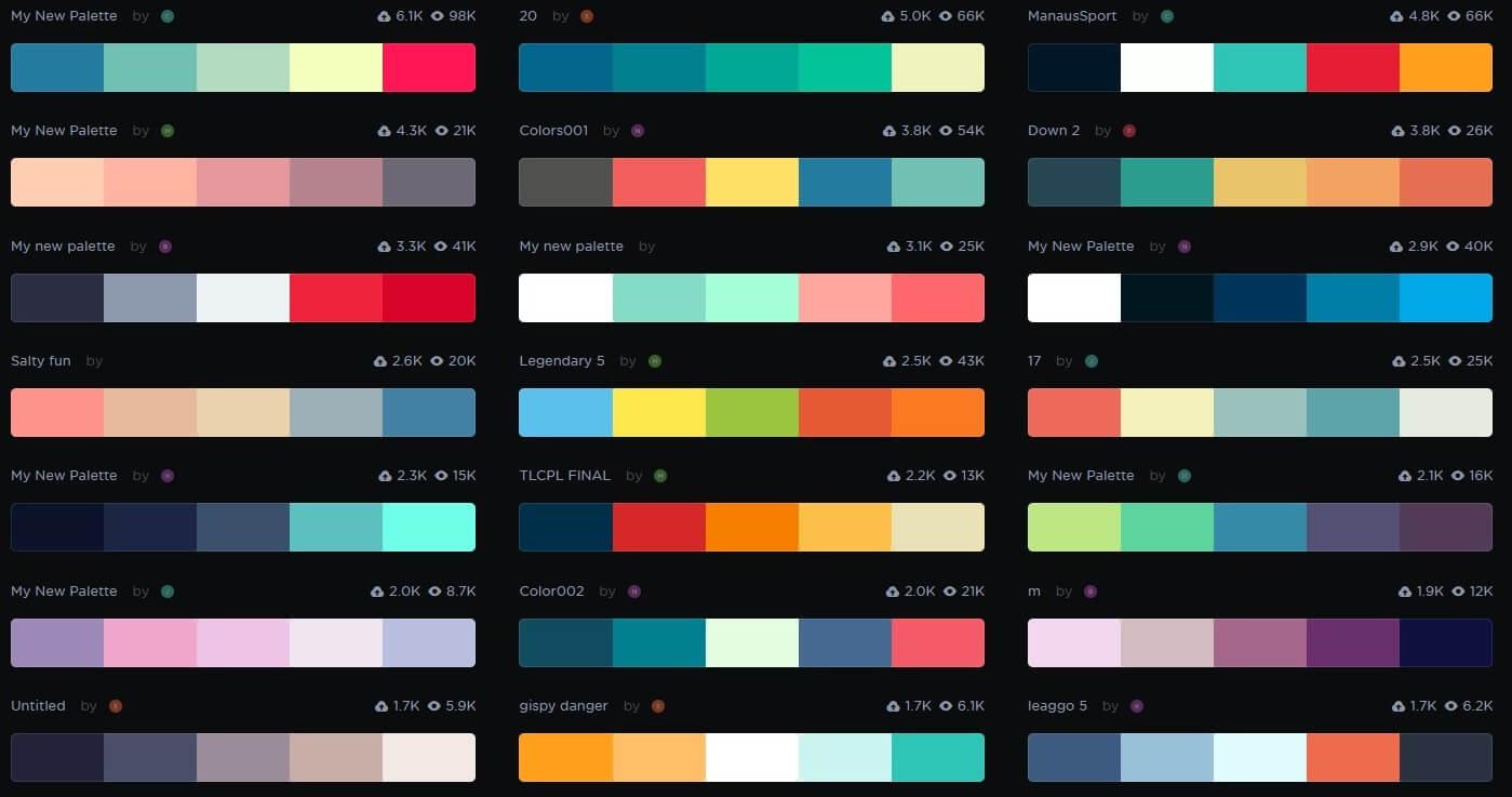 Coolor Color Scheme Options