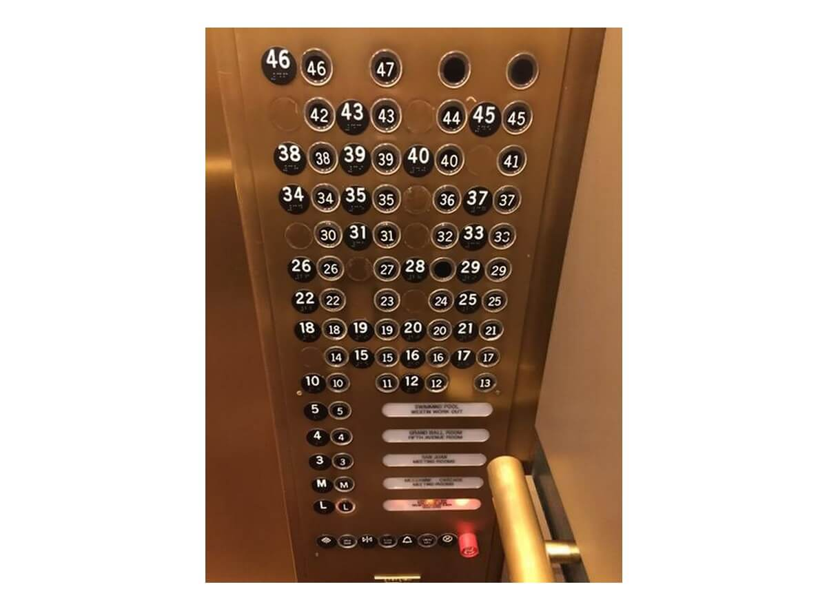 bad examples of UX elevator example