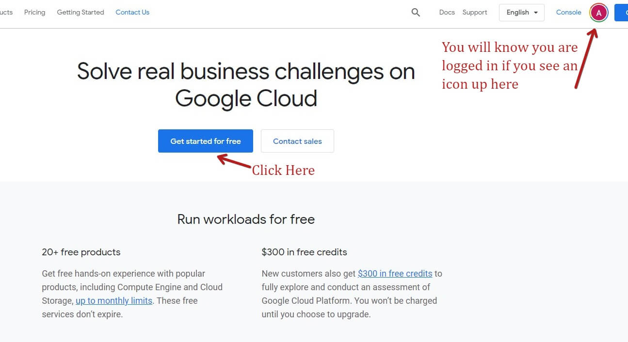 Getting Started To Create A Google Cloud Account