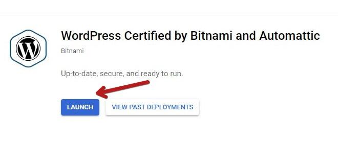 Launch The Bitnami WordPress